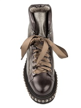 Ботинки Santoni WTWE56798 100% кожа Серо-коричневый Италия изображение 4