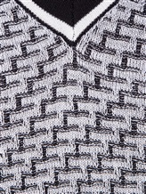 Джемпер V-вырез Fabrizio del Carlo CC2050 100% шерсть Серый Италия изображение 4