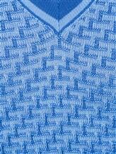 Джемпер V-вырез Fabrizio del Carlo CC2050 100% шерсть Темно-голубой Италия изображение 4