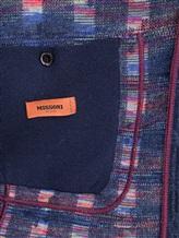 Пиджак Missoni 537431 93% шерсть, 4% полиамид, 3% полиэстер Темно-синий Италия изображение 6