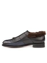 Ботинки Santoni WUCD56896 100% кожа Черно-синий Италия изображение 2
