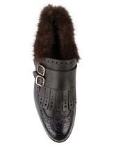 Ботинки Santoni WUCD56896 100% кожа Черно-синий Италия изображение 4
