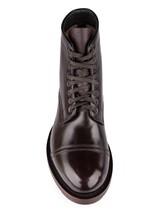 Ботинки Santoni WTALZ0501 100% кожа Темно-бордовый Италия изображение 4