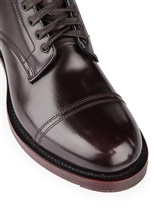 Ботинки Santoni WTALZ0501 100% кожа Темно-бордовый Италия изображение 5