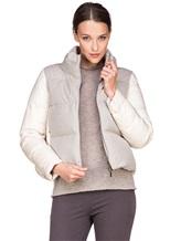 Куртка Peserico S24085C02 69% полиэстер, 29% вискоза, 2% эластан Серо-бежевый Италия изображение 0