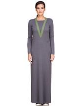 Платье EREDA E252454 70% шерсть, 30% кашемир Серо-зеленый Италия изображение 1