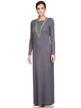 Платье EREDA E252454 70% шерсть, 30% кашемир Серо-зеленый Италия изображение 2