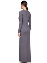 Платье EREDA E252454 70% шерсть, 30% кашемир Серо-зеленый Италия изображение 3