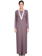 Платье EREDA E252454 70% шерсть, 30% кашемир Лиловый Италия изображение 1