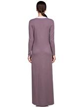 Платье EREDA E252454 70% шерсть, 30% кашемир Лиловый Италия изображение 3