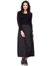 Платье Peserico S82005F07 70% шерсть, 20% шёлк, 10% кашемир Черный Италия изображение 0