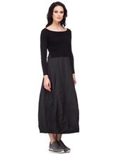 Платье Peserico S82005F07 70% шерсть, 20% шёлк, 10% кашемир Черный Италия изображение 2