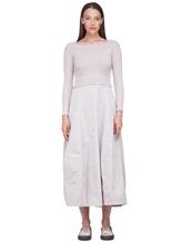 Платье Peserico S82005F07 70% шерсть, 20% шёлк, 10% кашемир Серо-бежевый Италия изображение 1