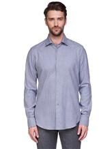 Рубашка EREDA BCC11 P7U RG8 100%хлопок Бело-синий Италия изображение 1