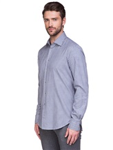 Рубашка EREDA BCC11 P7U RG8 100%хлопок Бело-синий Италия изображение 2