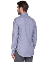 Рубашка EREDA BCC11 P7U RG8 100%хлопок Бело-синий Италия изображение 3