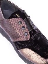 Кроссовки Henry Beguelin SD3233 100% кожа Черно-коричневый Италия изображение 6