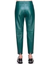 Брюки MAISON ULLENS PAN025 100% кожа ягненка Изумрудный Италия изображение 3