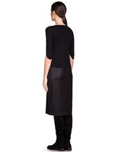 Платье EREDA E251530 88% шерсть, 10% полиамид, 2% эластан Черный Италия изображение 3