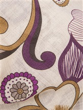 Платок Francesca Bassi D17I-F59 100% шерсть Фиолетовый Италия изображение 1