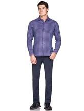 Рубашка Ingram SLIN/RV/L ML XT-5 100%хлопок Сине-красный Италия изображение 1