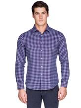 Рубашка Ingram SLIN/RV/L ML XT-5 100%хлопок Сине-красный Италия изображение 2