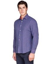 Рубашка Ingram SLIN/RV/L ML XT-5 100%хлопок Сине-красный Италия изображение 3