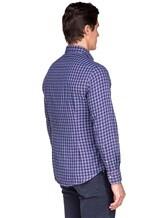 Рубашка Ingram SLIN/RV/L ML XT-5 100%хлопок Сине-красный Италия изображение 4