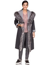 Пальто EREDA 263TE017 90% шерсть, 10% кашемир Серый Италия изображение 0