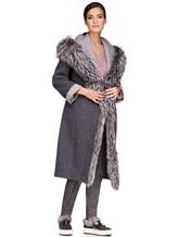 Пальто EREDA 263TE017 90% шерсть, 10% кашемир Серый Италия изображение 1