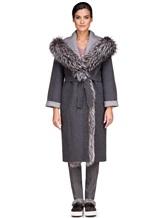 Пальто EREDA 263TE017 90% шерсть, 10% кашемир Серый Италия изображение 2