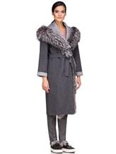 Пальто EREDA 263TE017 90% шерсть, 10% кашемир Серый Италия изображение 3
