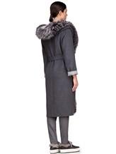 Пальто EREDA 263TE017 90% шерсть, 10% кашемир Серый Италия изображение 4