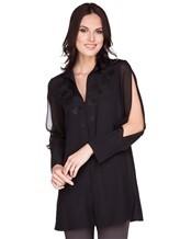 Блуза AKRIS 515000 100% шёлк Черный Румыния изображение 0
