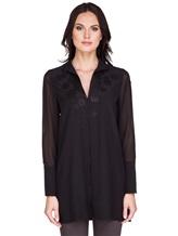 Блуза AKRIS 515000 100% шёлк Черный Румыния изображение 1