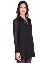 Блуза AKRIS 515000 100% шёлк Черный Румыния изображение 2