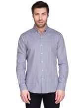 Рубашка Ingram SLIM/SC ML IV-6 100%хлопок Бело-синий Италия изображение 1