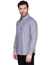 Рубашка Ingram SLIM/SC ML IV-6 100%хлопок Бело-синий Италия изображение 2