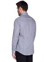 Рубашка Ingram SLIM/SC ML IV-6 100%хлопок Бело-синий Италия изображение 3