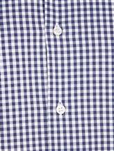 Рубашка Ingram SLIM/SC ML IV-6 100%хлопок Бело-синий Италия изображение 4