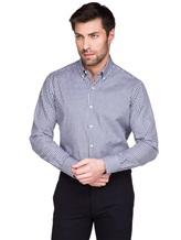 Рубашка Ingram SLIM/SC ML IV-6 100%хлопок Бело-синий Италия изображение 0