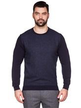 Джемпер LARUSMIANI 024453ABB 88% шерсть, 8% шёлк, 4% кашемир Темно-синий Италия изображение 1