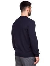 Джемпер LARUSMIANI 024453ABB 88% шерсть, 8% шёлк, 4% кашемир Темно-синий Италия изображение 3
