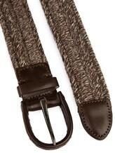 Ремень Stefano Corsini TD135EL 95% шерсть, 5% кожа Серо-коричневый Италия изображение 1