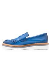Туфли Santoni WUSH56968 100% кожа Темно-голубой Италия изображение 2