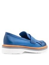 Туфли Santoni WUSH56968 100% кожа Темно-голубой Италия изображение 3