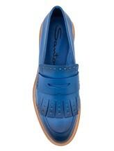 Туфли Santoni WUSH56968 100% кожа Темно-голубой Италия изображение 4