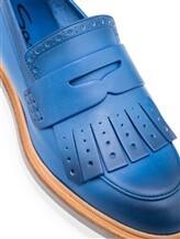 Туфли Santoni WUSH56968 100% кожа Темно-голубой Италия изображение 5