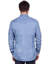 Рубашка Lardini EEALE 80% хлопок, 18% нейлон, 2% эластан Темно-голубой Италия изображение 3