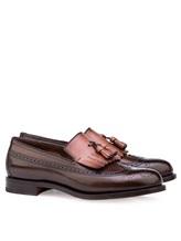 Туфли Santoni MCHG12830 100% кожа Темно-коричневый Италия изображение 0